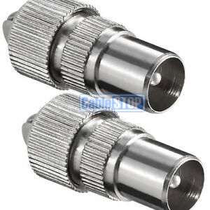 2-x-MALE-COAX-PLUG-TV-AERIAL-CONNECTOR-COAXIAL-ADAPTER