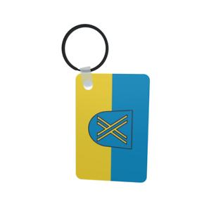 Schlüsselanhänger Flagge Fahne Castrop-Rauxel Alu 40 x 57 mm