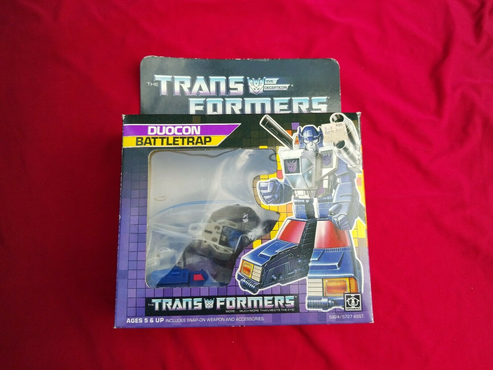 G1 transformers Decepticon duocon kämpfentrap complete with Box and manual