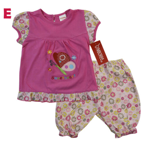 NWT Gymboree Baby Girls Shirt Shorts Outfit Clothes Size 3 6 9 12 18 24 months
