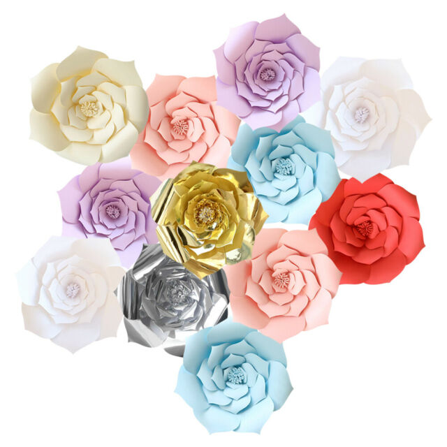 20 30 40cm Diy Large Paper Flowers Backdrop Flower Wall Wedding Party Decoration