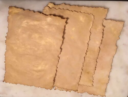 1 x A5 Hand Dyed Antique Vintage Parchment Style Paper Crafts Magical Letter