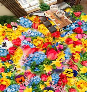 Flores Color 3D 86 Impresión De Parojo Murales Papel de parojo de piso AJ Wallpaper Reino Unido Lemo