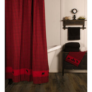 Image Is Loading New Rustic Hunting Camp Lodge Cabin Red BLACK