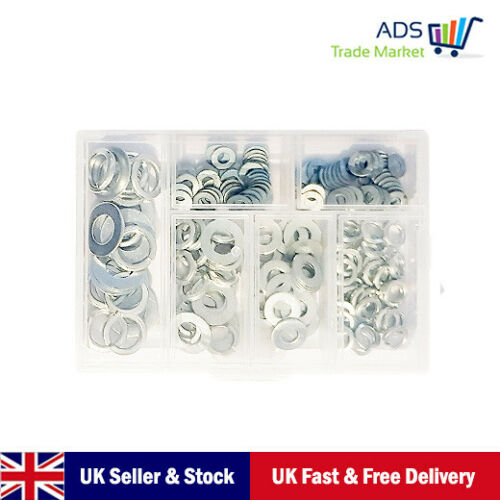 Stainless steel Flat Washers Assorted Size Shape Fastener Accessories 150g Box
