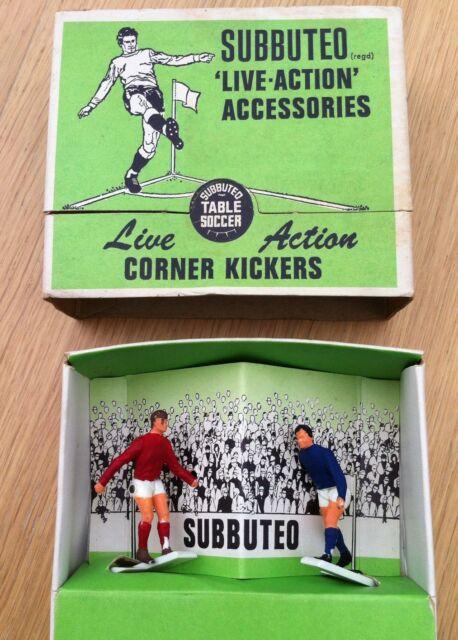 VINTAGE 1960s SUBBUTEO Table Soccer Football Boxed Corner Kickers Set C.131