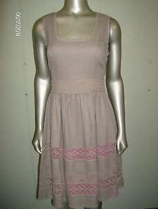 Jessica-Simpson-Womens-A-line-Lace-Trim-Dress-Size-8