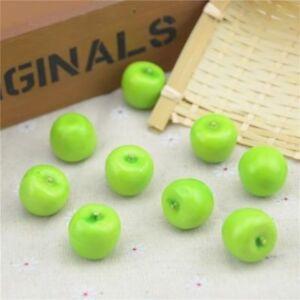 Details about Artificial Fruit Foam Plastic Mini Green Apple Super Small  Model Kitchen Decor