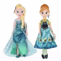 2 pcs Disney Frozen Princes Elsa/Anna Soft Stuffed Plush Doll Girl Gift Toy #New