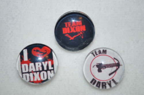 NEW 18-19MM metal Snap Button I love Daryl DIxon Walking Dead Snap Button Charm