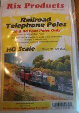 RIX (HO-Scale) #628-0030 Railroad Telephone Poles 30 & 40 ' Poles - 36 pk - NIB