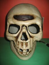 LIGHT UP SKULL WITH RED BULB INDOOR/OUTDOOR 14.5 INCHES NEW HALLOWEEN PROP