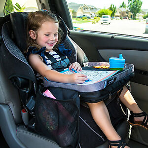 Kids Car Seat Travel Tray Childrens Buggy Activity Lap Desk Board ...