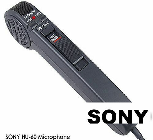Sony HU-60 Hand Held Dictation Microphone Control Unit One Knob Slide Switch