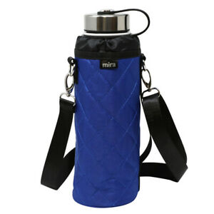 MIRA-Water-Bottle-Carrier-for-40-oz-Wide-Mouth-Insulated-Water-Bottles-Blue