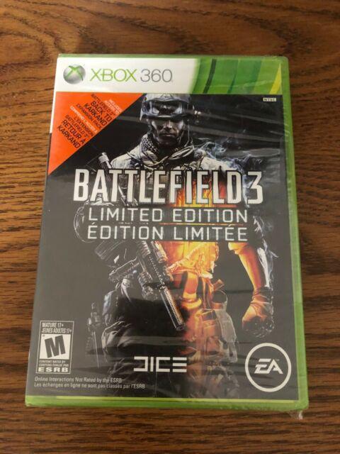 Factory Sealed Battlefield 3 Limited Edition XBOX 360 NTSC-U/C Free Shipping