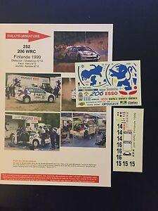 DECALS-1-43-PEUGEOT-206-WRC-GRONHOLM-RALLYE-FINLANDE-1000-LACS-1999-RALLY