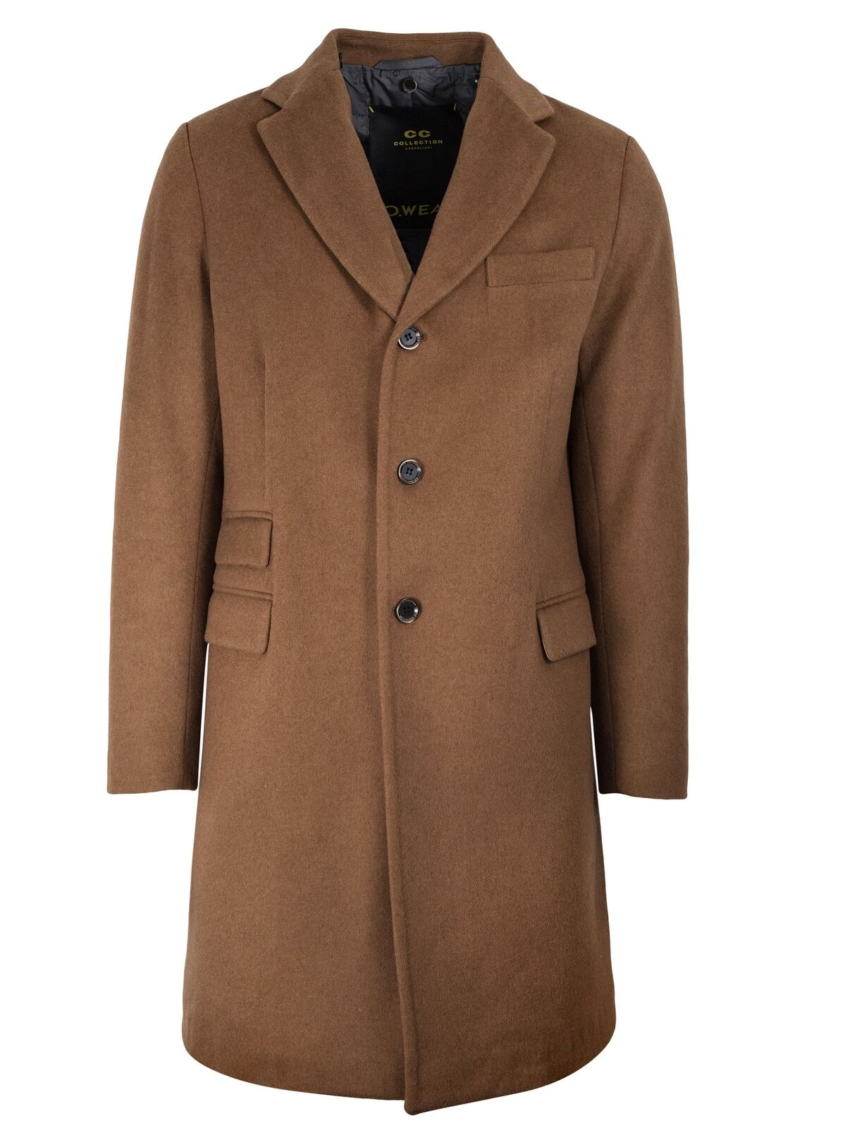 CC Collection Corneliani Camel Beige Wool-Blend Coat