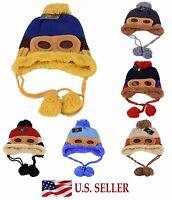 Winter Baby Boys Girl Earflap Crochet Knit Pilot Aviator Toddler Kids Beanie Hat
