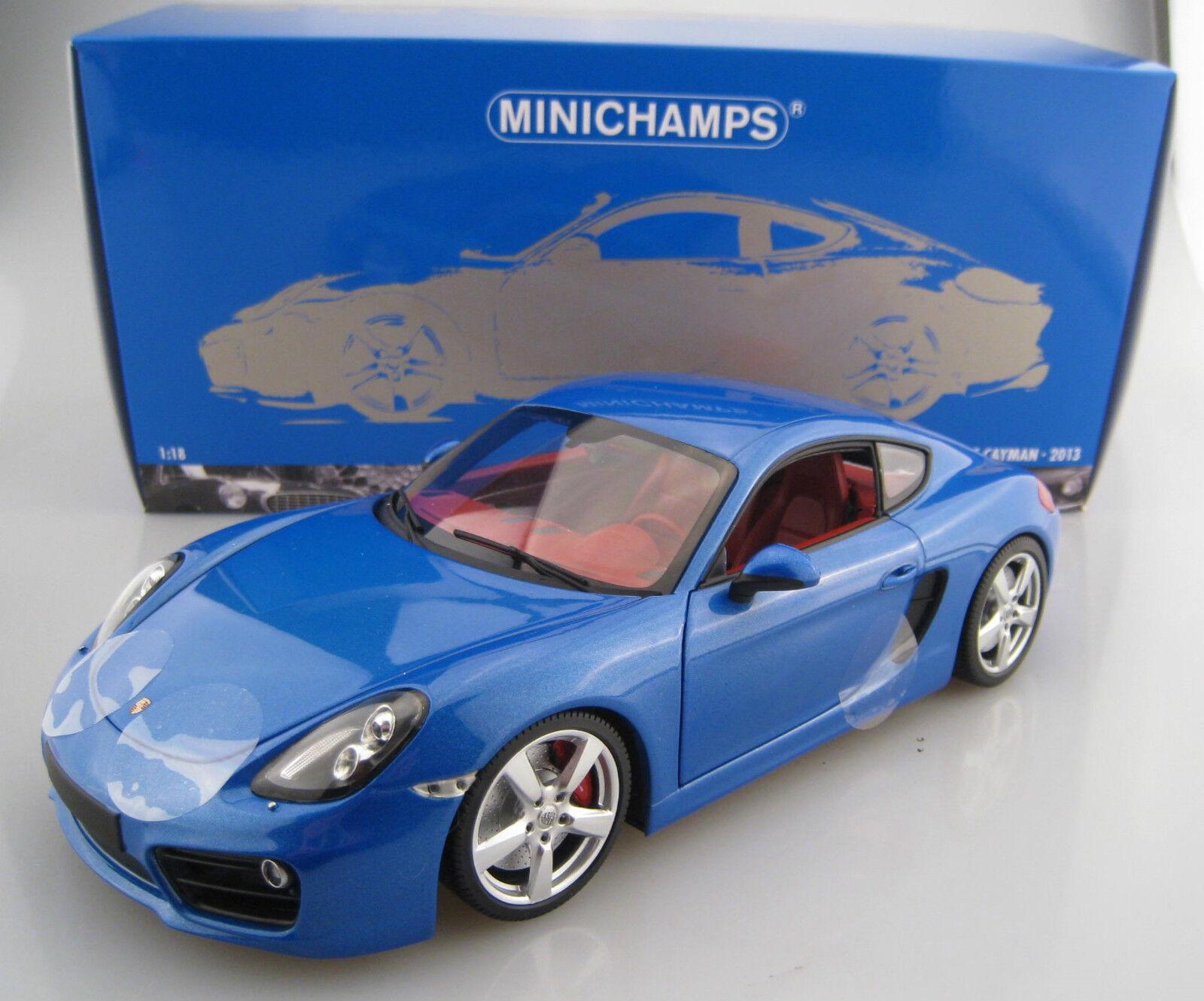 Porsche Cayman 2013 in Bleu Limitée à 504 unités Minichmps 1 18 neuf dans sa boîte NEUF