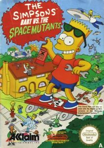 The Simpsons Bart vs the Space Mutants Nintendo Nes Tested Cart Only Authentic