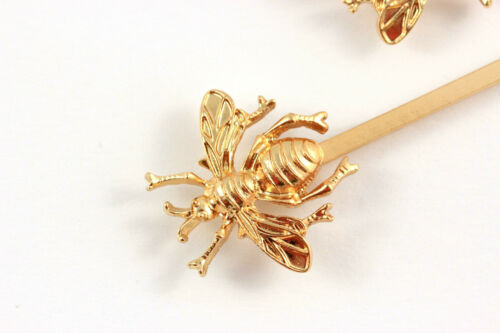 2 x Haarnadeln Biene Bienen gold Haarschmuck Jewelry Fashion A312