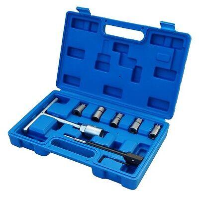 Set de Cortador Diesel Escariador para Asientos de Inyectores 10 Piezas Escariador de Asiento de Inyectores