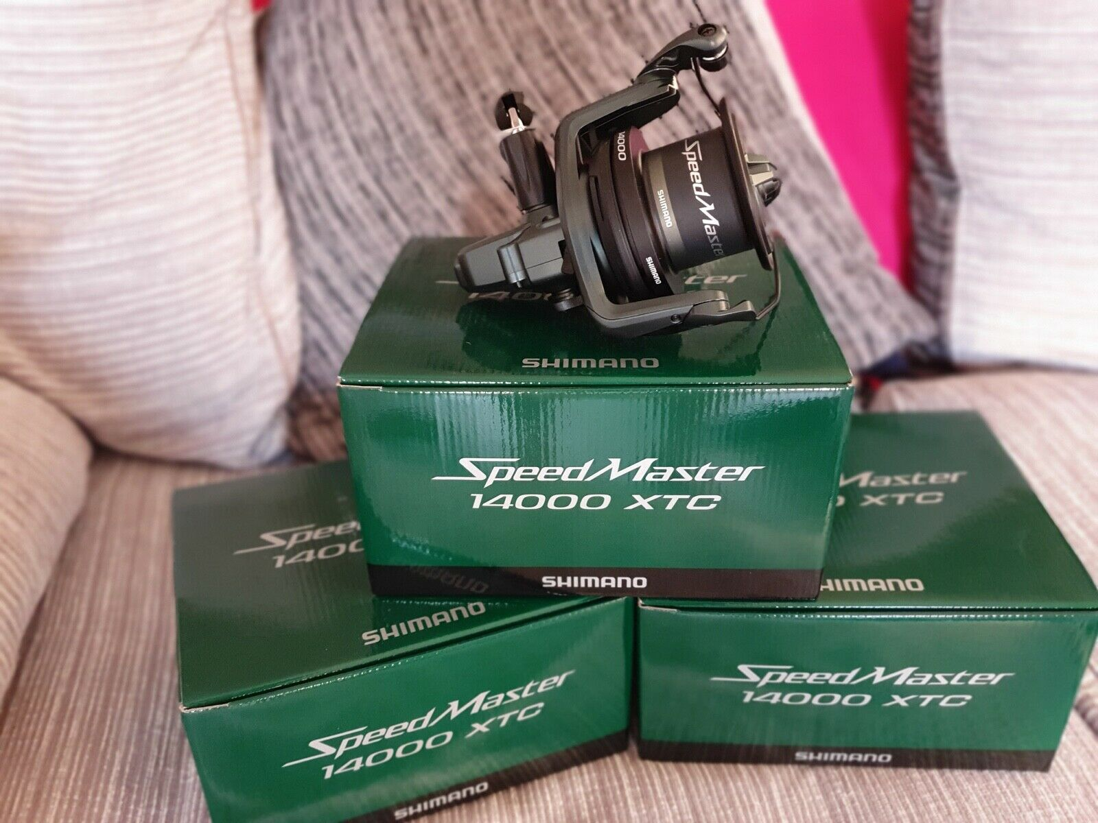 Shimano Speedcast 14000 XTC Cocheretes x3 no Split 300 quid para 3 Cocheretes Plus