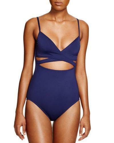 ecdc5dcc77c Vince Camuto Navy Wrap Around Maillot One Piece Swimsuit 10 for sale ...