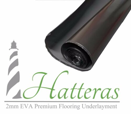 Quality Black Laminate Flooring Underlayment 2MM EVA Foam HATTERAS 100 sf