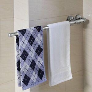 "24"" Chrome Suction Mount Bathroom Bath Shower Door Towel ..."