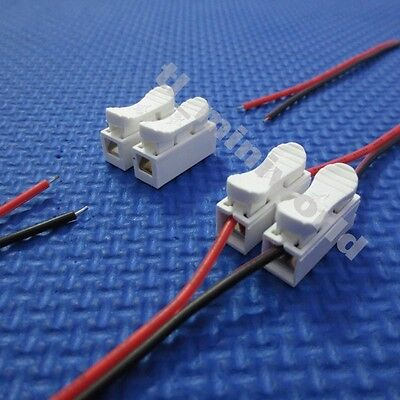 "20x Spring Connector ""Connect 2p wire with no welding no screws"" for led strip"