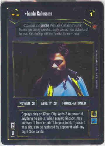 Star Wars CCG Reflections 1 FOIL Lando Calrissian Dark