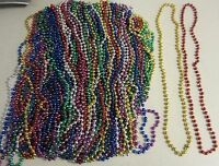 100 Mardi Gras Beads Necklaces Party Favors Motorcycle Bike Rally Bead Birthday