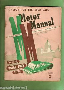 XX-AUSTRALIAN-MOTORCAR-MAGAZINE-MOTOR-MANUAL-MAY-1952-MELBOURNE-SHOW