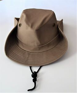 136952654ebda Image is loading S-W-Vented-Brown-Boonie-Hat-with-Snap-up-