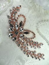 "Rose Gold Embellishment Crystal Rhinestone Applique Metal 7.5"" (XR119-rsglcr)"