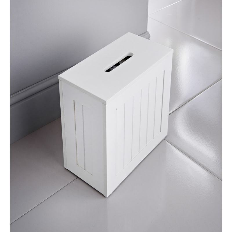 Maine Bathroom Storage Unit White Furniture Box Bleach Cleaning Tidy New