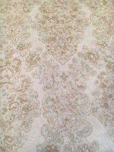 Vintage Wallpaper Damask Large Scale Trellis Light Brown