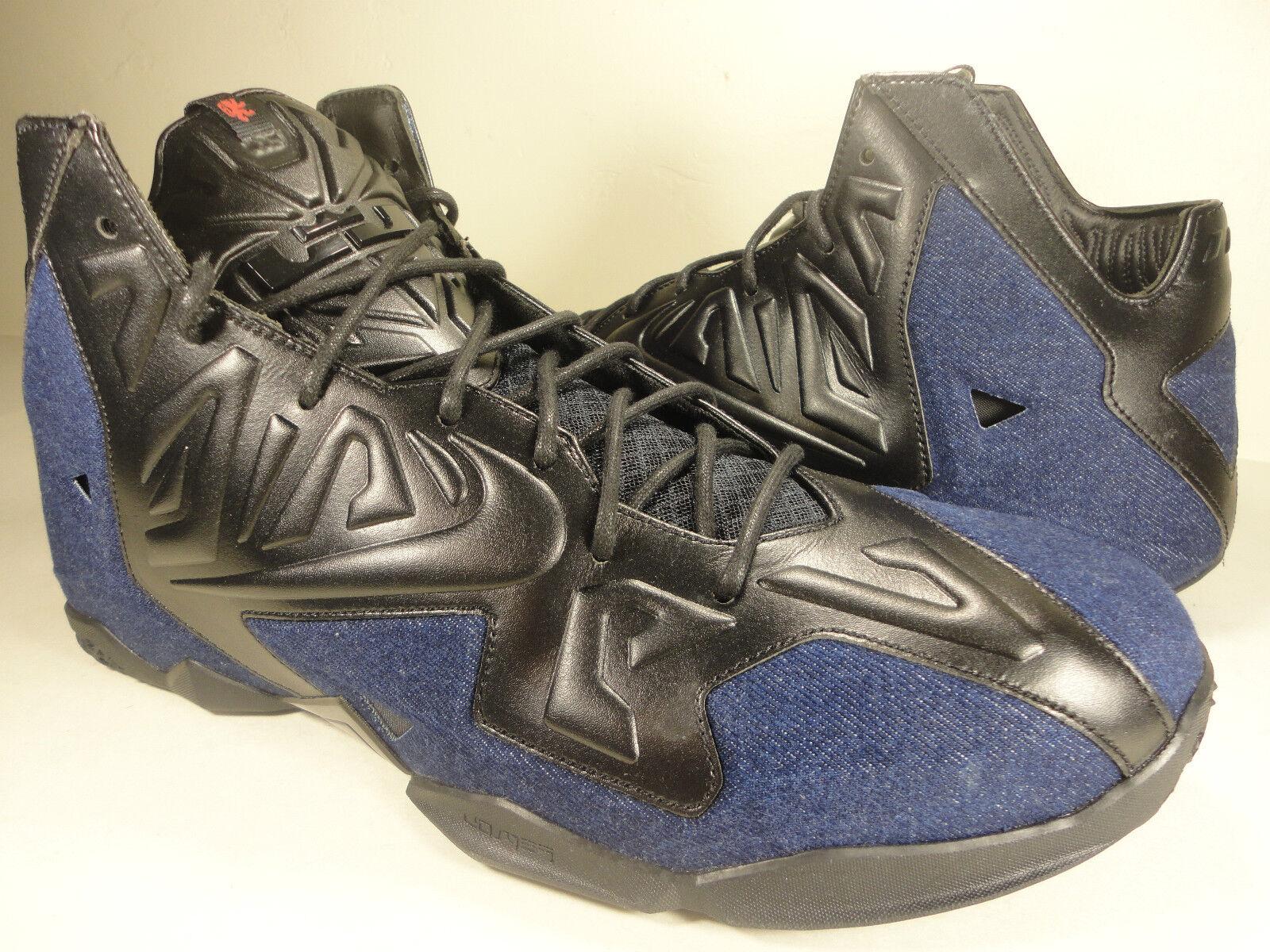 Nike Lebron XI 11 EXT Denim QS Black bluee Denim SZ 8.5   Womens 10 (659509-004)