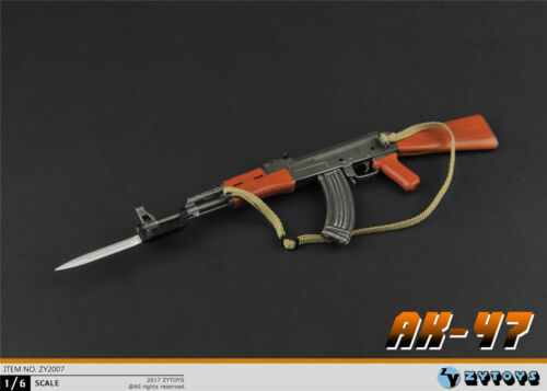 ZYTOYS 1//6 Scale AK47 Gun Weapon Model Toy ZY2007 F 12/'/' Action Figure