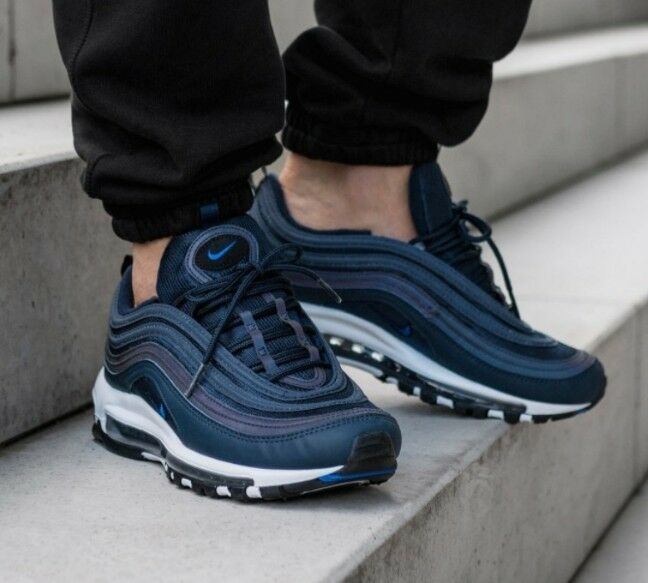 Nike Air Max 97 Obsidian Taille 7.5 UK BNIB Baskets Authentiques Hommes Authentiques 98 1