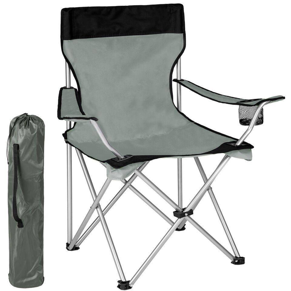 Campingstol enkelt grå