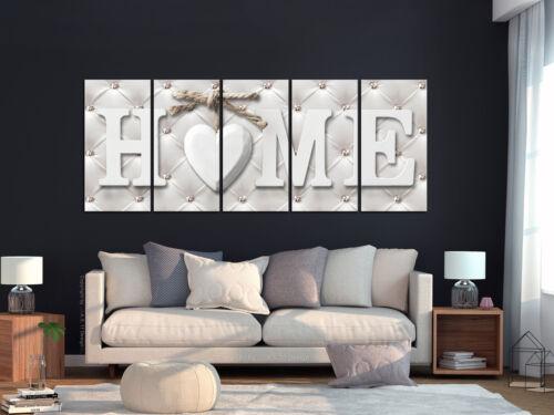 Home cœur simili cuir Maison peintures murales images XXL toile canevas m-c-0272-b-m