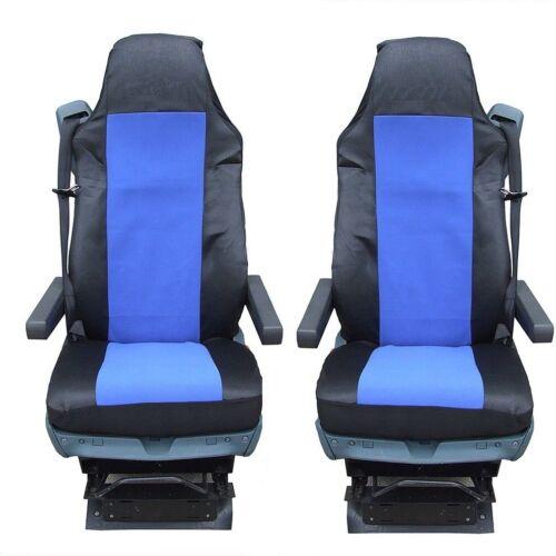 NEU 2x LKW PASSFORM für DAF XF105 XF 105 CF LF Sitzbezüge Schonbezüge in Blau