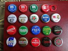 Lote chapas CERVEZA diferentes. Usadas. Tapón corona bottle cap beer real madrid