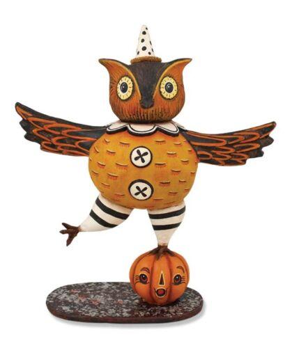 Dancing Owl Figure Johanna Parker jp4871 Bethany Lowe Halloween folk art NEW