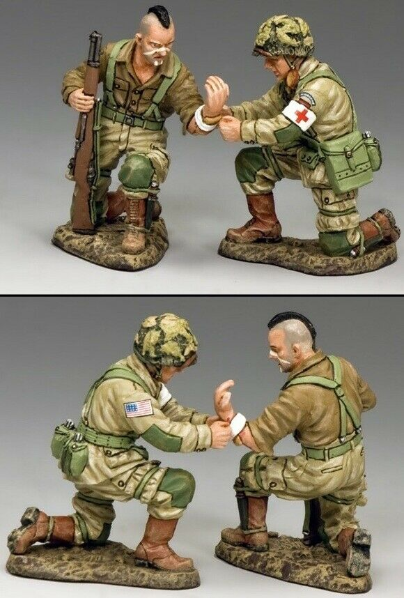 King & Country D Day DD247 Verwundet Set MIB