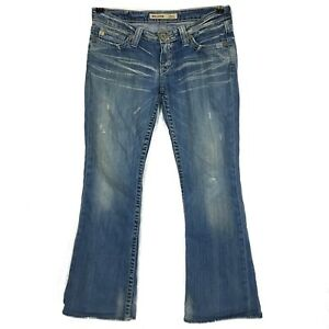 Big-Star-Womens-Jeans-28-R-Sweet-Ultra-Low-Rise-Bootcut-Distressed