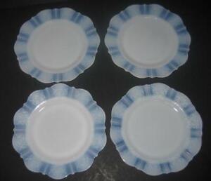 set-4-American-Sweetheart-Monax-9-to-9-1-4-034-plates-luncheon-dinner-Macbeth-Evans